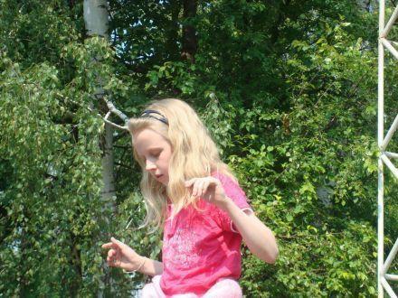 Юля в лагере Бауманец - лето 2008